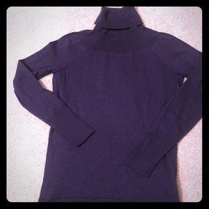 Purple Banana Republic Turtleneck Sweater